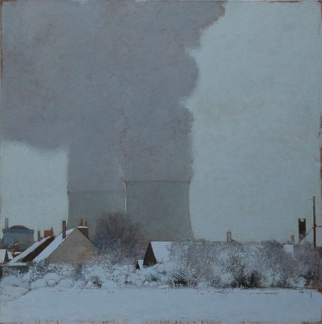 Avaray l'hiver HST 130x130 cm 2013